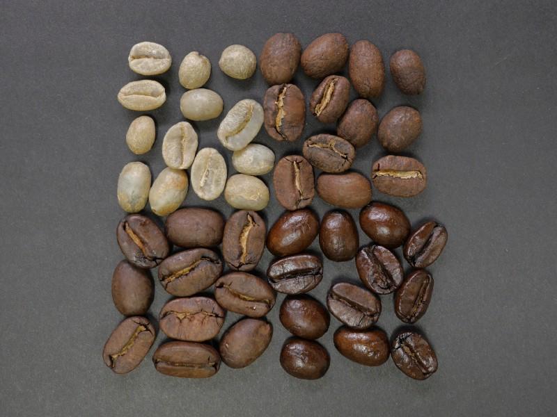 咖啡烘焙由淺至深