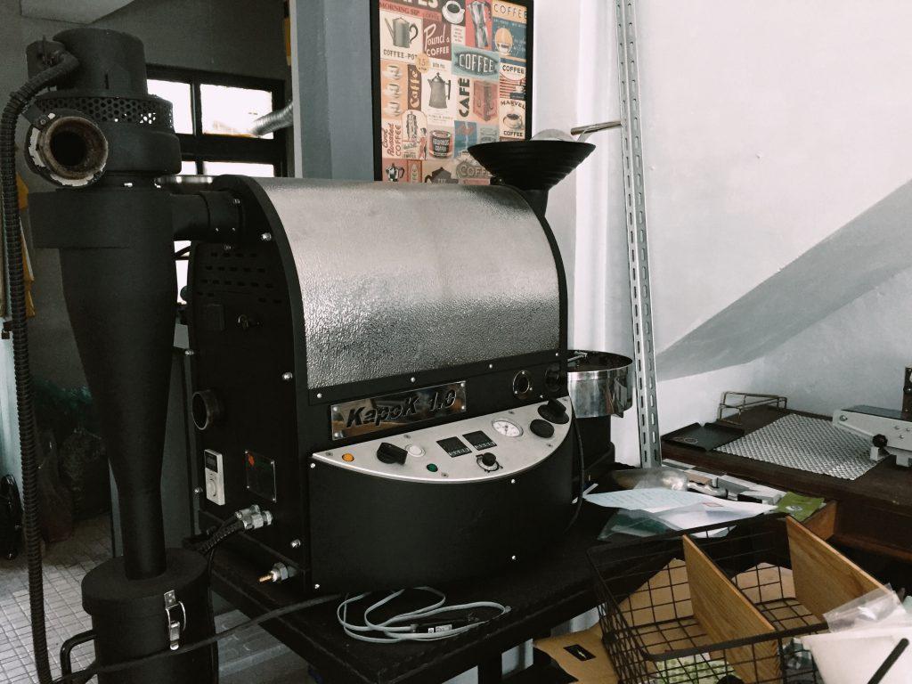 咖啡出油-烘豆機