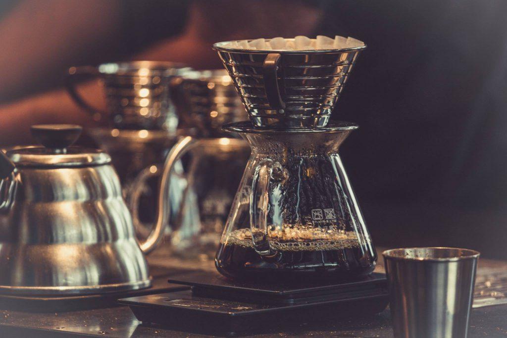沖煮咖啡示意圖