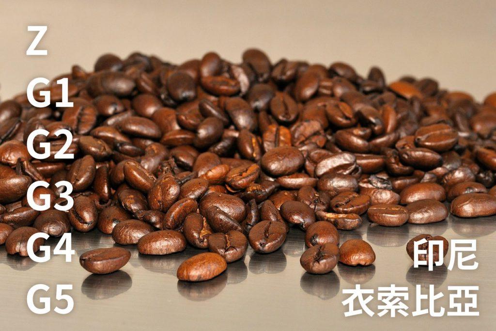 咖啡豆分級-衣索比亞G1咖啡-印尼咖啡-曼特寧咖啡-G1-G2-咖啡豆-咖啡市集-台灣-香港-澳門