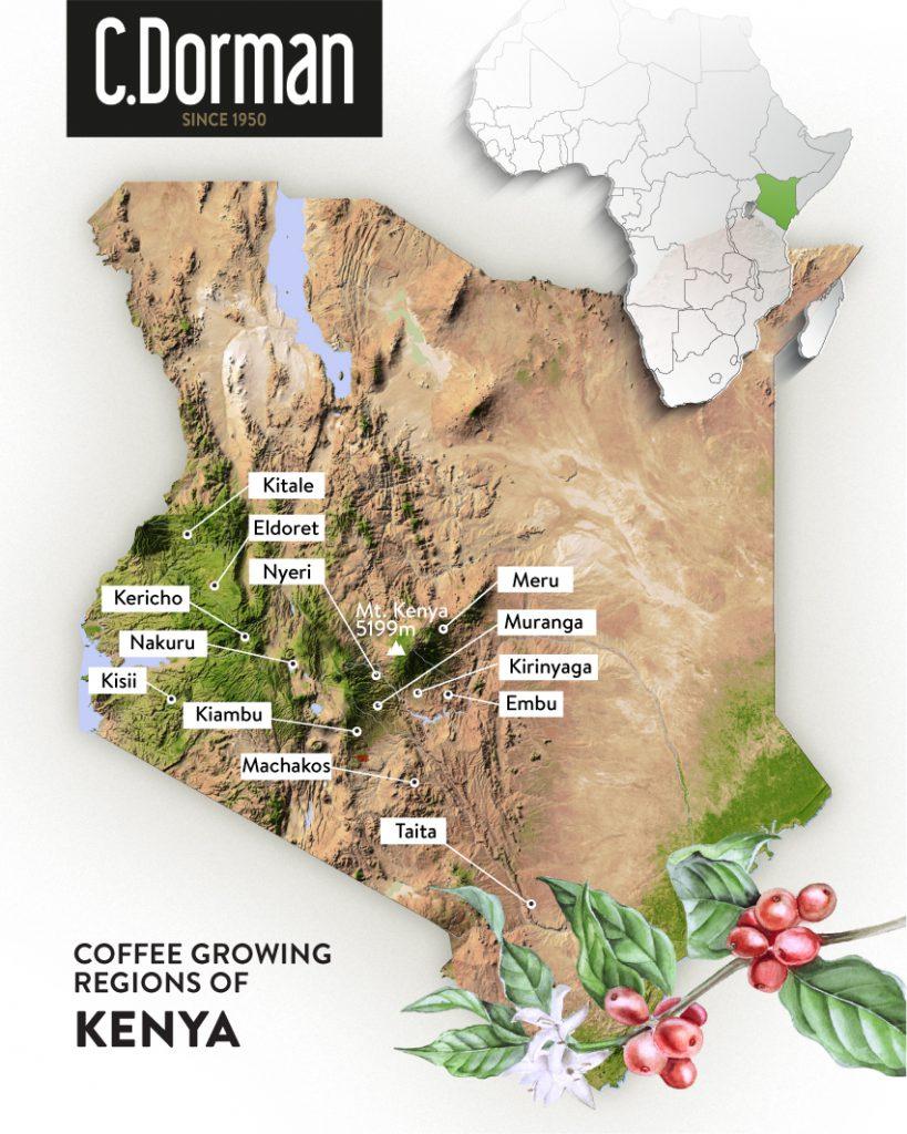 肯亞 咖啡 產地 地圖