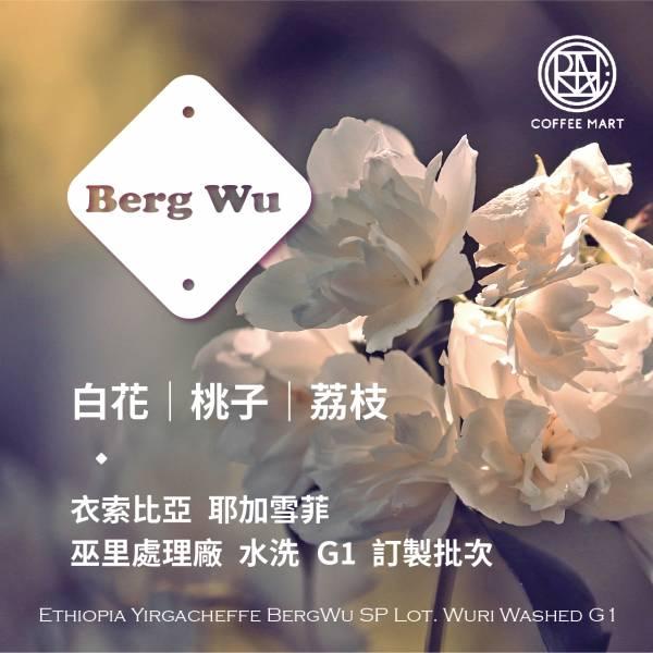 Berg Wu 巫里處理廠 訂製批次 G1 水洗 咖啡豆